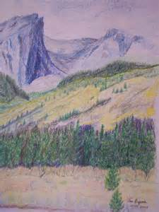 Mountain Landscape Colored Pencil Drawings