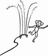 Sprinkler Coloring Do2learn Picturecards sketch template