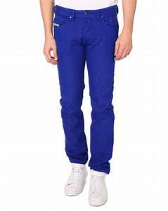 Diesel Belther Royal Blue Regular Slim Fit Denim Jeans in Blue for Men | Lyst