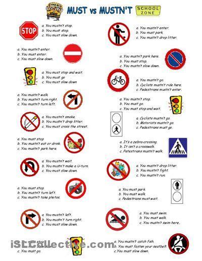 mustnt  images english grammar worksheets