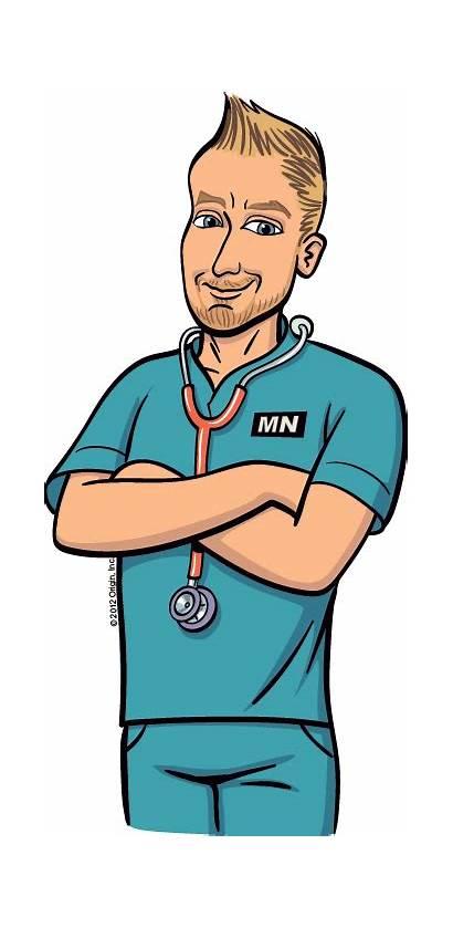Nurse Cartoon Nursing Nurses Clipart Male Animated