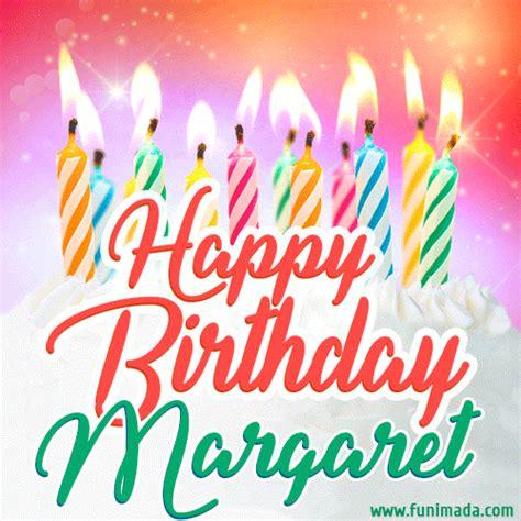 happy birthday gif  margaret  birthday cake  lit