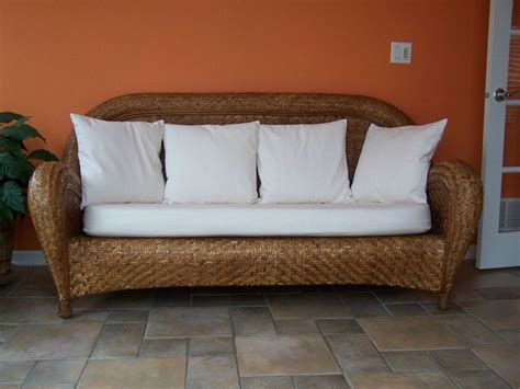 malabar pottery barn oversized wicker sofa