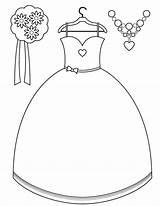 Coloring Pages Dresses Maid Accessories Brides Printable Colouring Button Utilising Getcolorings Otherwise Grab Feel Could Please Right sketch template