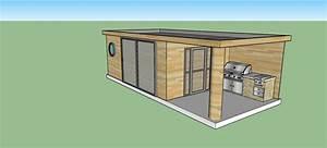 Pool House Toit Plat : piscine traditionelle 8x4 m poolhouse red cedar ~ Melissatoandfro.com Idées de Décoration