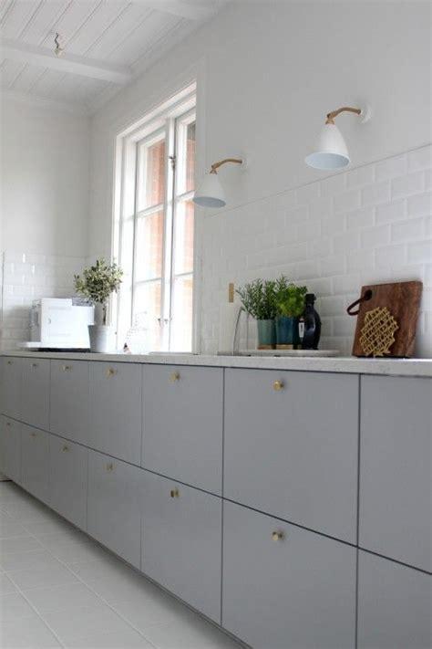 gray kitchen cabinet doors ikea metod veddinge grey cabinet doors with brass door