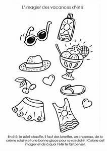Creme Solaire Dessin : coloriage imprimer imagier de l 39 t ~ Melissatoandfro.com Idées de Décoration