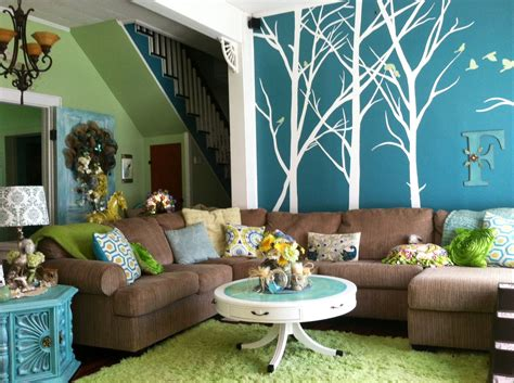 peacock inspired living area valspar paint colors quaking