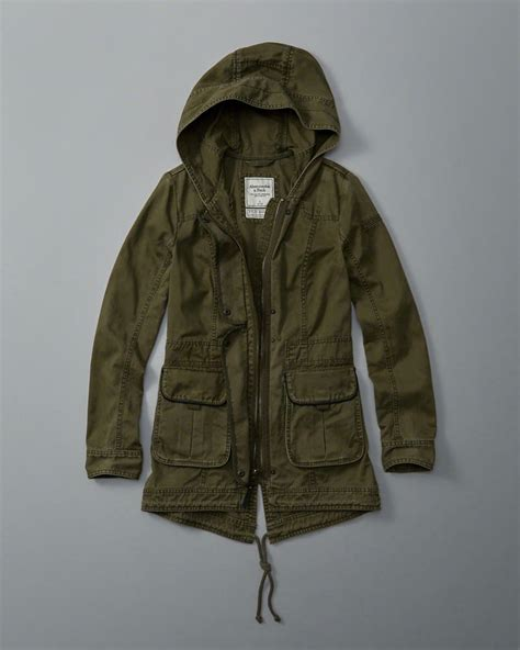 abercrombie and fitch hollister women's fall twill parka