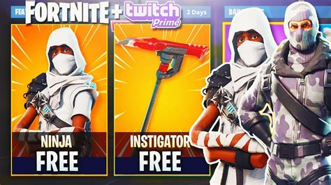 twitch prime skins exclusive unlock  fortn