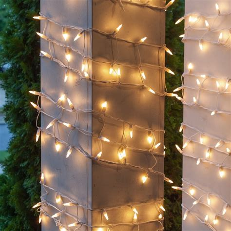 christmas column wrap net lights 6 quot w x 15 h column wrap 150 white lights white wire