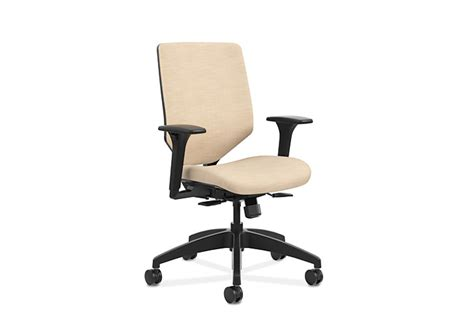 solve mid back task chair with upholstered reactiv back