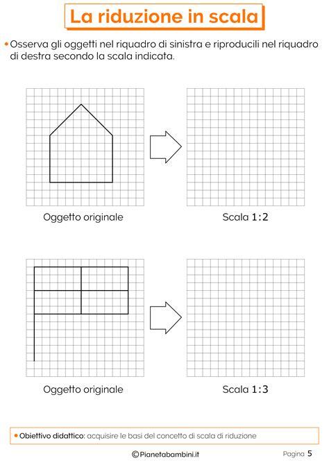 schede di matematica classe terza elementare da stare la riduzione in scala esercizi per la scuola primaria