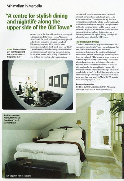 interior design articles article in magazine homes about kjell sporrong interior