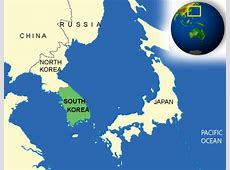 Map of Korea, South Terrain, area and outline maps of