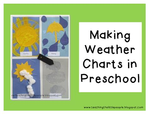 weather charts in preschool teaching the 794 | Making Weather Charts in Preschool