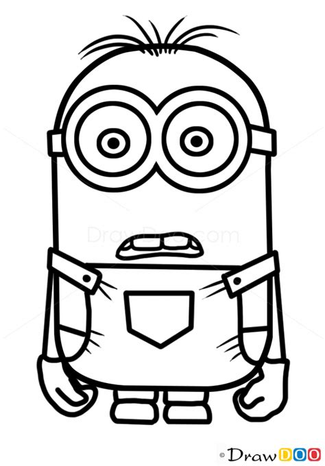 draw minion dave cartoon characters   draw