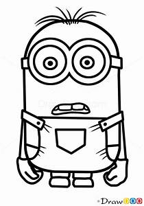 How to Draw Minion Dave, Cartoon Characters - How to Draw ...