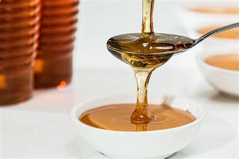 stock photo  glass honey jar
