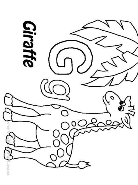 letter g coloring pages free printable letter g