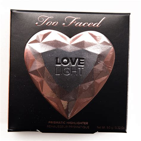too faced ray of too faced love light prismatic highlighters reviews