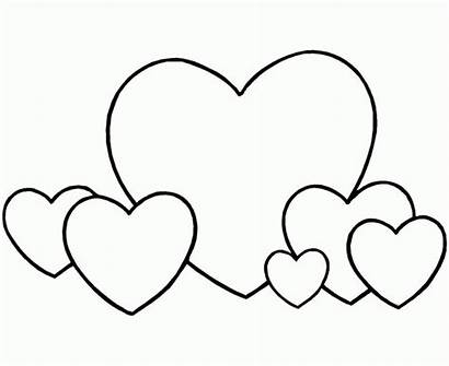 Coloring Heart Pages Printable Hearts Shape Valentine