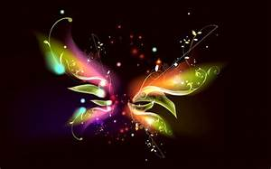 ELECTRIC BUTTERFLY 3D and CG & Abstract Background