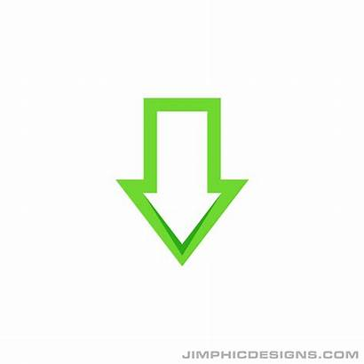 Arrow Pointing Down Outline Animation Moving Downwards