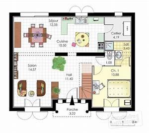 maison familiale 2 detail du plan de maison familiale 2 With maison rez de chaussee 5 maison familiale 2 detail du plan de maison familiale 2
