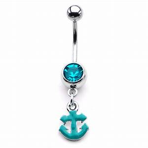 "316L Surgical Steel Navel Belly Button Ring 7/16"" Anchor 14G"