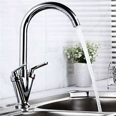 Uk Swivel Spout Mono Kitchen Sink Brass Mixer Tap Twin