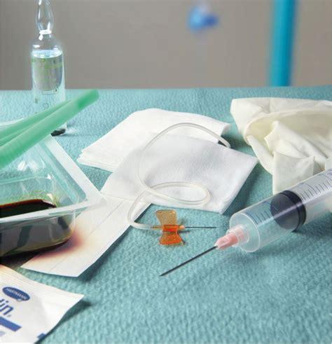 chambre implantable infirmier set pose chambre implantable aiguille de huber sécurisée