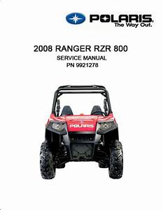 2008 Rzr 800 Service Manual