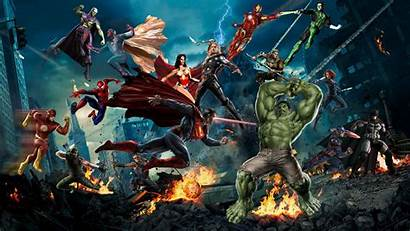 Avengers Marvel Justice League Dc Fight Team
