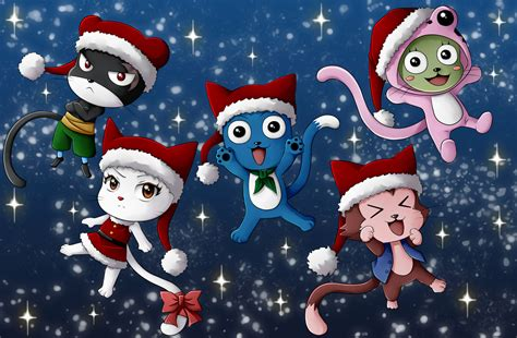 happy christmas fairy tail  celestialrayna daily anime art