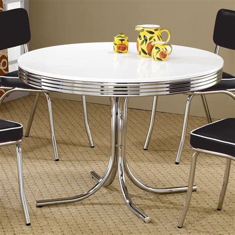 old fashioned kitchen table and chairs shop coaster fine furniture retro round dining table at
