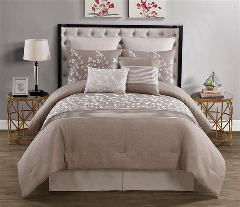 piece embroidered comforter set traveling vines home