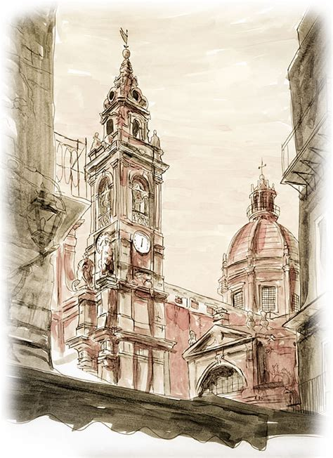 sicily sketch journal sketches  sicily italy