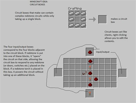 Idea Circuit Boxes For Compact Redstone Circuits Minecraft
