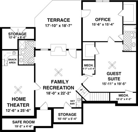 home theater floor plan basement floor plan but the terrace bedroom 3