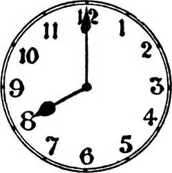 uhr design 8 o 39 clock clipart etc