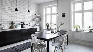 Cuisine Blanche Et Noire : une cuisine en noir et blanc shake my blog ~ Nature-et-papiers.com Idées de Décoration