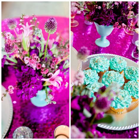 Fuchsia and Teal Tablescape (With images) Pink glassware