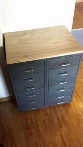 Style Industriel Ikea : meuble industriel avec caissons helmer meubles industriels caisson et ikea ~ Teatrodelosmanantiales.com Idées de Décoration