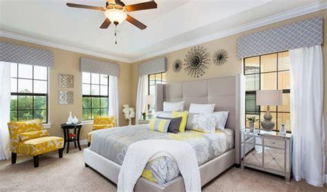 visually pleasant yellow  grey bedroom designs