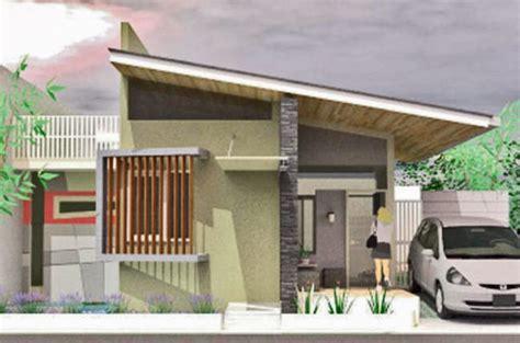 gambar inspirasi desain rumah atap miring  lantai