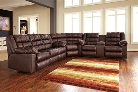 living room elegant ashley leather sectional sofa