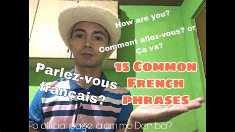 15 Common French phrases - YouTube