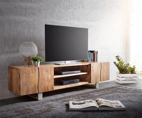 tv lowboard 200 cm delife lowboard live edge akazie natur 200 cm 4 t 252 ren
