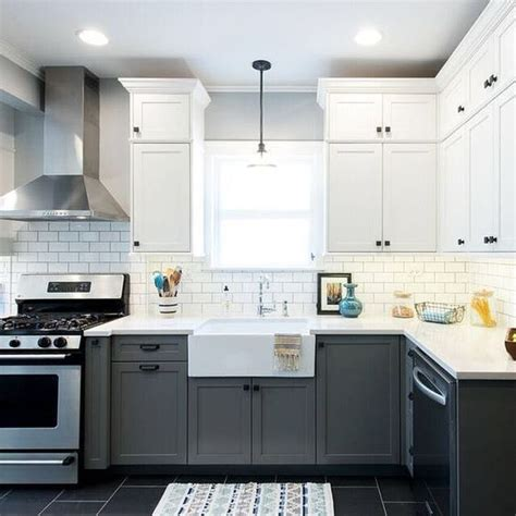 two tone grey kitchen cabinets two tone kitchen cabinets are one of the trends we 8612